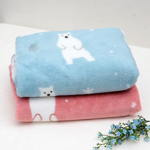 북극곰 캐릭터 밍크 담요 2종