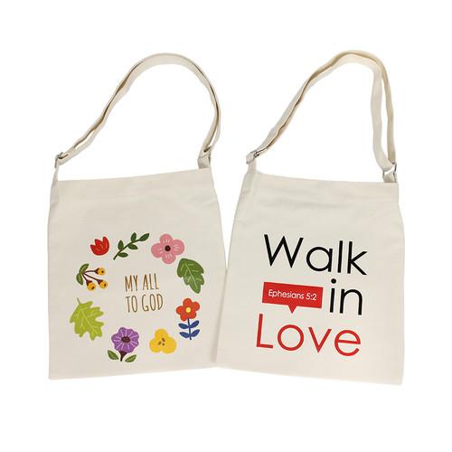 크로스에코백 My all to God 마이올 & Walk in Love 러브 6896