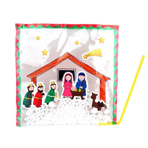 [만들기패키지] 아기예수 탄생 스티커 겨울풍선
