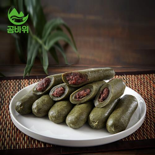 곰취아빠 김윤창 성도의 곰취 앙금 가래떡 (80g X 20개입)