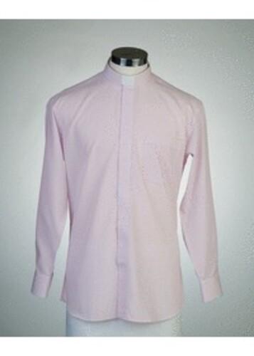 목회자셔츠-오메가셔츠 핑크 (로만카라)