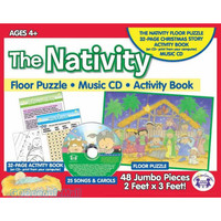 Nativity Giant Floor Puzzle and CD