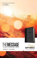 Message: Deluxe Gift Bible (Leather-Look, Black/Slate)