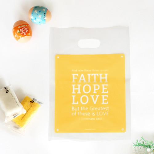 부활절 떡 비닐백 (20개)_Faith Hope Love