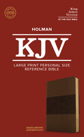 KJV: Holy Bible Large Print Personal Size Reference Bible, Saddle Brown (Red Letter Edition)