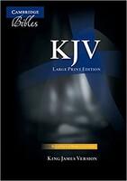 KJV: Large Print Text Bible, Black French Morocco Leather