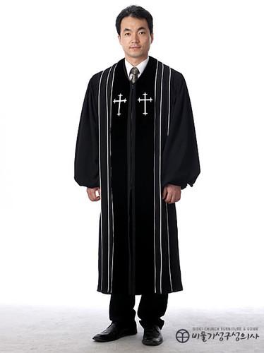 목사 가운_검정(B01-002)