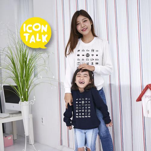 [마이제이디]고급특양면 맨투맨-아이콘톡 (성인/아동)3색