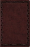 ESV: Large Print Value Thinline Bible Border Design (Mahogany, Imitation Leather)
