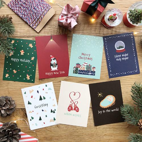해피크리스마스 카드묶음 (카드7장 봉투7장)