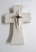 (벽걸이용) 도자기 기본형2 십자가 - 5색(블랙/화이트/딥블루/그린/코발트)
