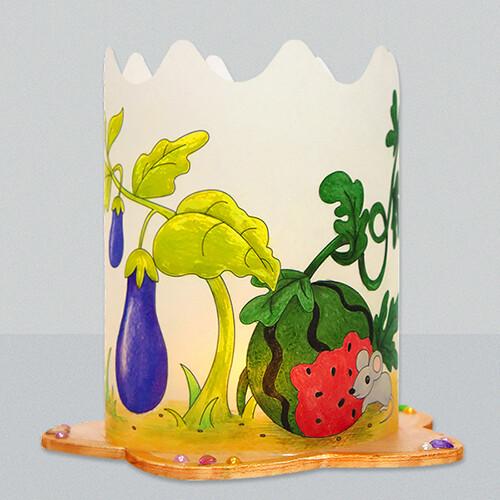 [아트공구43-9] 초충도(수박과 들쥐) 조명등(전등갓) 만들기