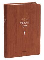 큰글자 현대인의 성경 중 단본 (색인/친환경PU소재/무지퍼/브라운)
