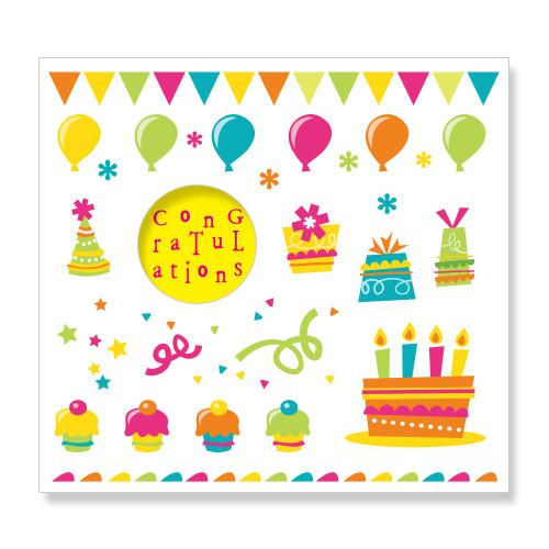 축하카드_파티[congratulations](1set: 5개)
