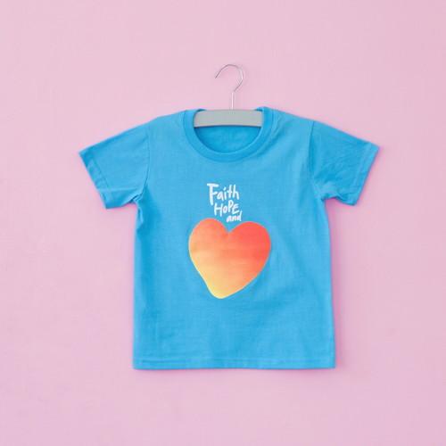 2019 글로리월드 티셔츠 - 믿음소망사랑티(소프트블루)