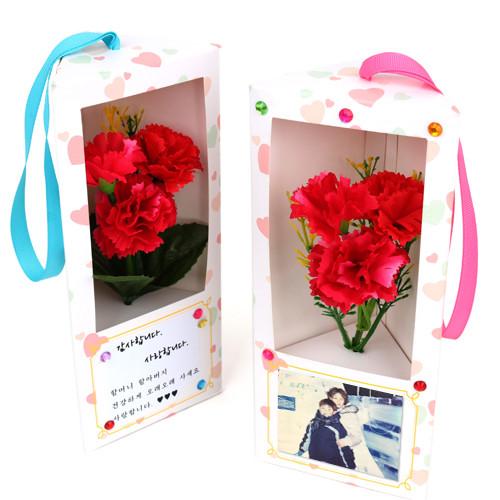 [만들기패키지] 카네이션꽃다발 화이트박스 (5개이상구매가능)