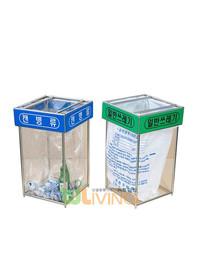 비닐걸이 분리수거함 - 덮개형 실내기본형 100 (100리터)