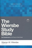 NKJV: Wiersbe Study Bible, Hardcover, Red Letter Ed, Comfort Print: Be Transformed by the Power of Gods Word
