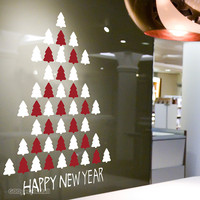 (크리스마스 스티커)happy tree