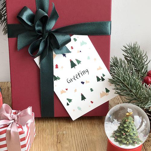 해피크리스마스 미니카드 - 트리가족