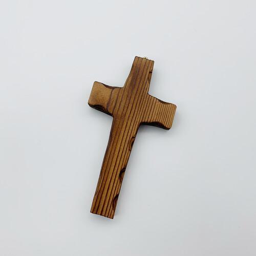 벽걸이 나무십자가(소) 민무늬 / 자석부착겸용