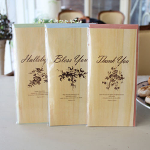 축복,감사,찬양 카드3종 세트(Natural Wood)-현금,상품권선물 가능-피터카페