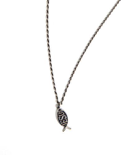 Silver Vintage Jesus Necklace