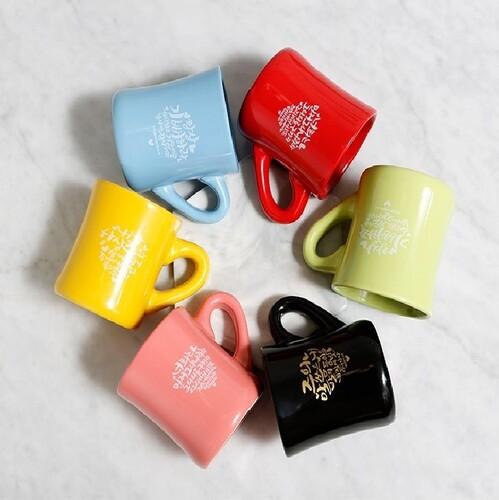 (단체명 인쇄)노아데코 컬러머그컵 6종