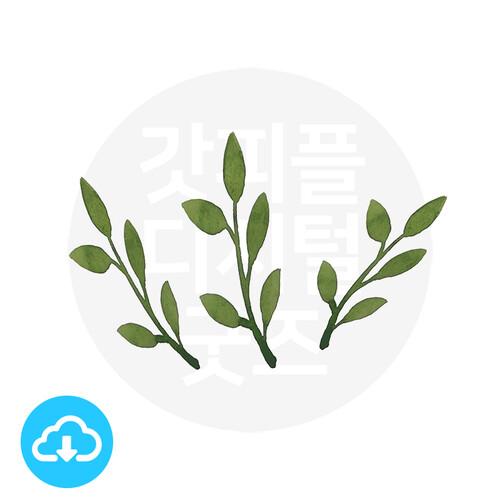디지털 그림자료 3 나뭇잎 by 해피레인보우 / 이메일발송(파일)