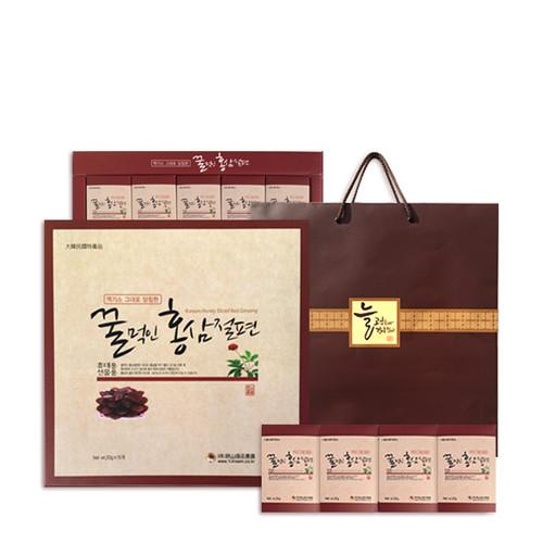 금산양전 꿀먹인 홍삼절편 선물세트 15봉