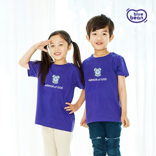 블루빈 전신갑주 티셔츠-의의 흉배(퍼플)