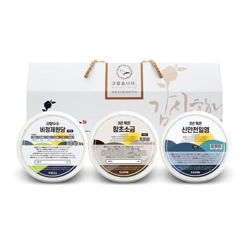 단짠 3종 선물세트 (원당-소금) (250g~300g)