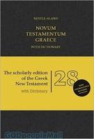 Nestle-Aland Novum Testamentum Graece 28 (NA28), Hardcover with Dictionary