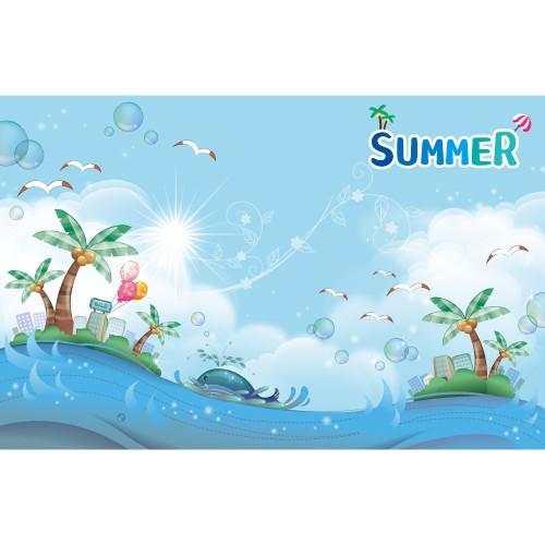 여름배경현수막-415 ( 200 x 130 )