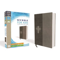 NIV: Bible for Kids, Leathersoft, Gray, Red Letter Edition, Comfort Print