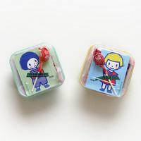 [어린이단체선물] 사탕엽서 간식구디백