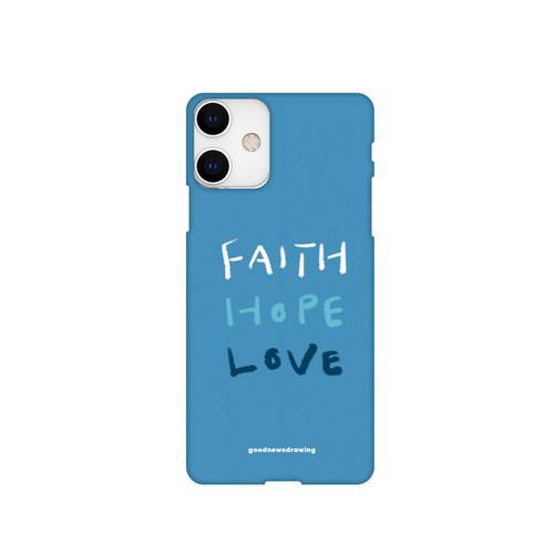 폰케이스 31.Faith,Hope,Love 파란색