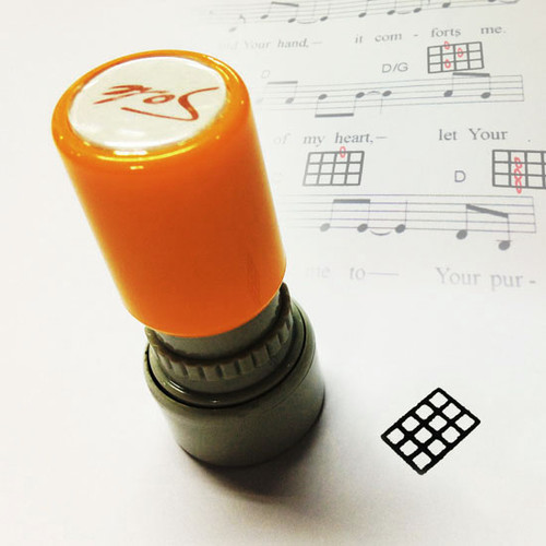 Sole 우쿨렐레 코드 스탬프 Orange