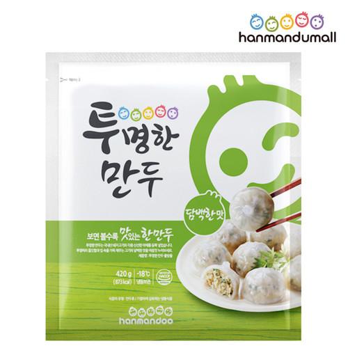 [한만두몰] 투명한 만두 물방울 420g