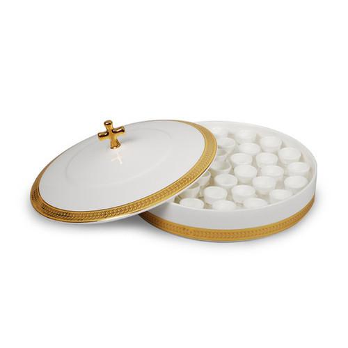 도자기 성찬 포도주그릇 밑판 (하) - 뚜껑 제외 (잔 미포함)
