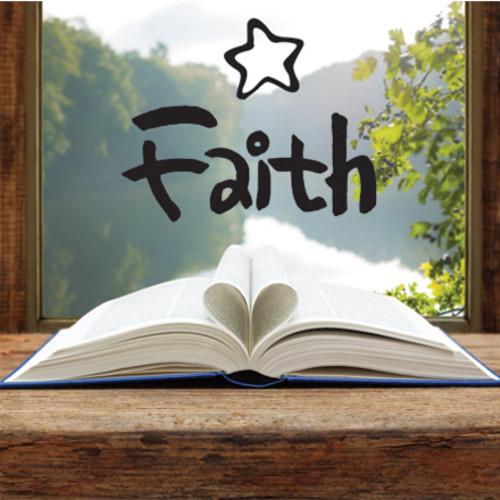 마이제이디[2 in1]캘리말씀스티커시트지_믿음(Faith)