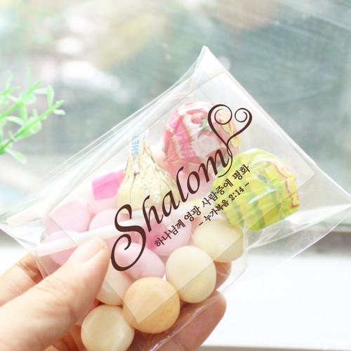 투명 전도스티커 Shalom_ 1000매 인쇄