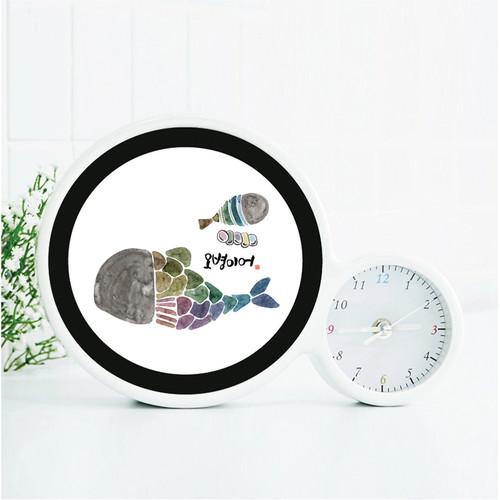 마이제이디_LED 말씀거울시계 무드등(캘리디자인12종)
