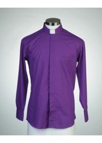 목회자셔츠-오메가셔츠 보라 (로만카라)