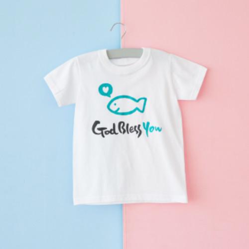 글로리월드 티셔츠 - 화이트 블레스유 (30벌 이상 주문가능)