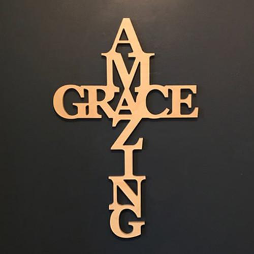 어메이징 그레이스 (AMAZING GRACE) 나무 십자가