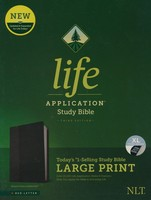 NLT: Life Application Study Bible, 3d Ed. Large Print (Leatherlike, Black/Onyx, Indexed)