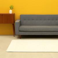[안탈로 디자인 매트] 양면 PVC바닥매트 크림테라조 크림솔리드