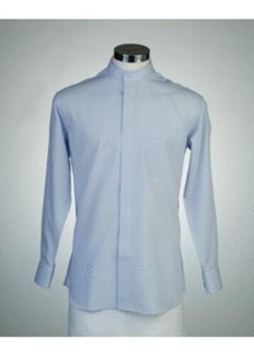 목회자셔츠-차이나카라셔츠 파랑