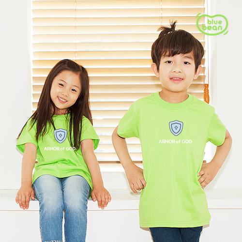 블루빈 전신갑주 티셔츠-믿음의 방패(라이트그린)